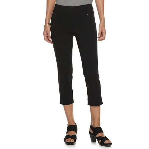 Petite Napa Valley Pull-On Crop Pants