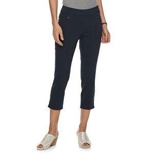 Petite Napa Valley Pull-On Crop Pants