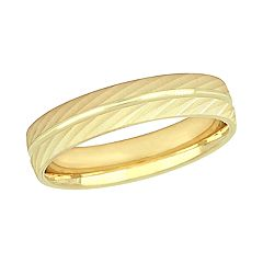 Stella Grace 10K Yellow Gold Men's Wedding Band Ring