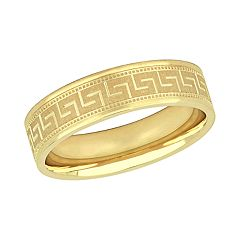 Stella Grace 10K Yellow Gold 6mm Men's Wedding Band Ring