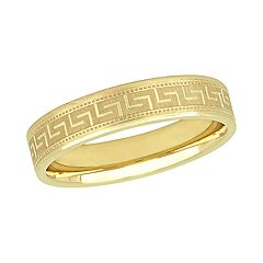 Stella Grace 10K Yellow Gold 5mm Men's Wedding Band Ring