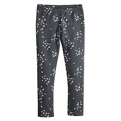 Girls 4-12 Jumping Beans® Print Fleece Leggings