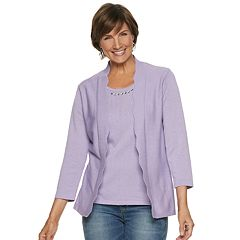 Petite Napa Valley Embellished Mock-Layer Sweater