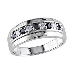 Stella Grace 10k White Gold 1/2 Carat T.W. Black & White Diamond Ring