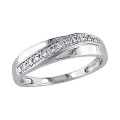Stella Grace 10K White Gold 1/10 Carat T.W. Diamond Ring