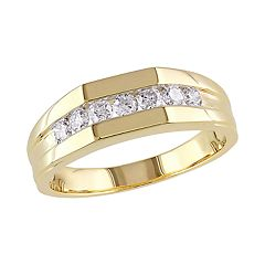 Stella Grace 10k Gold 1/2 Carat T.W. Geometric Diamond Ring