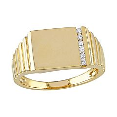 Stella Grace 10k Gold 1/10 Carat Diamond Rectangle Ring