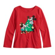 Disney's Mickey & Minnie Mouse Girls 4-12 Foiled Christmas Tee  by Jumping Beans®