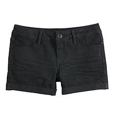 Girls 7-16 & Plus Size SO® Sewn-Rolled Cuff Denim Shorts