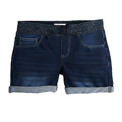 Girls 7-16 & Plus Size SO® Drawstring Waist Denim Shorts