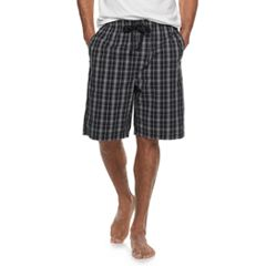 41527d05b Men s Croft   Barrow® Plaid Woven Sleep Shorts. Navy Green Plaid Red ...