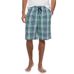 Men's Croft & Barrow® Plaid Woven Sleep Shorts
