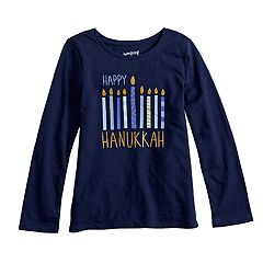 Girls 4-12 Jumping Beans® 'Happy Hanukkah' Glittery Graphic Tee