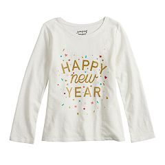 Girls 4-12 Jumping Beans® 'Happy New Year' Glittery Graphic Tee