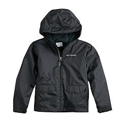 Boys 4-7 Columbia Colorblocked Hooded Rain Jacket
