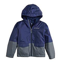 Boys 4-7 Columbia Colorblocked Hooded Rain Jacket