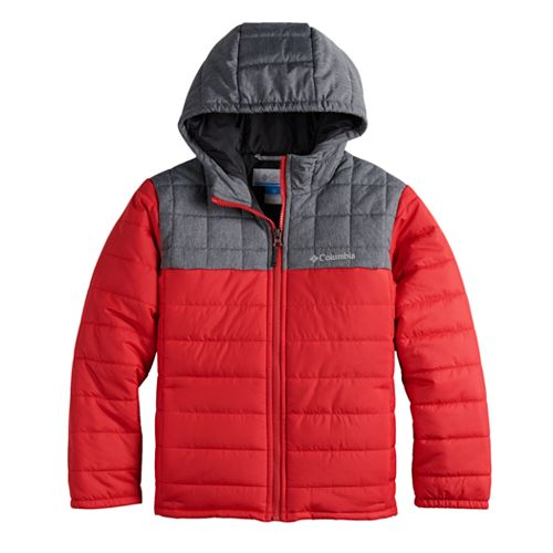 Boys 4-7 Columbia Puzzle Lake Puffer Quilted Colorblock Hooded heavyweight Jacket