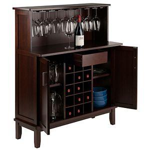 Winsome Beynac Wine Bar Cabinet
