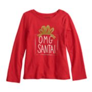 Girls 4-12 Jumping Beans® Glittery Holiday Graphic Tee