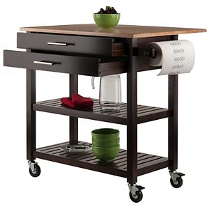 Winsome Langdon Rolling Kitchen Cart