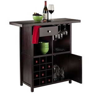 Winsome Macon Wine Rack Storage Cabinet