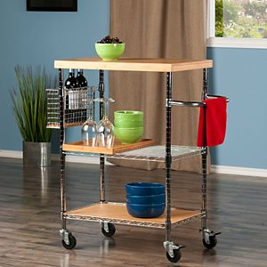 Winsome Madera Rolling Kitchen Cart