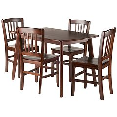 Winsome Shaye Dining Table & Slatback Chair 5-piece Set