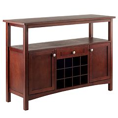 Winsome Colby Wine Rack Buffet Table Storage Cabinet