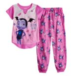Disney's Vampirina Girls 4-8 Top & Bottoms Pajama Set