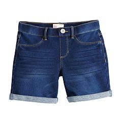 74b3ddc1610 Girls 7-16 SO® Pull On Midi Shorts