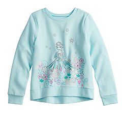 Disney's Frozen Elsa Girls 4-12 Glittery Graphic Softest Fleece Sweatshirt by Jumping Beans®