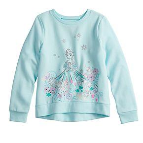 Disney's Frozen Elsa Girls 4-12 Glittery Graphic Softest Fleece Sweatshirt by Jumping Beans®