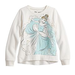 Disney's Cinderella Girls 4-12 Glittery Graphic Softest Fleece Sweatshirt by Jumping Beans®