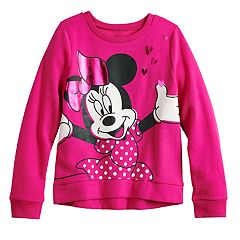 Disney's Minnie Mouse Girls 4-12 Foiled Graphic Softest Fleece Sweatshirt by Jumping Beans®
