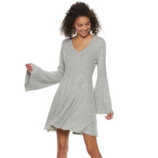 Juniors' American Rag Bell-Sleeve Fit & Flare Sweater Dress