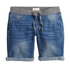 Girls 7-16 & Plus Size SO® Drawstring Waist Denim Bermuda Shorts