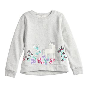 Girls 4-12 Jumping Beans® Graphic Softest Fleece Pullover