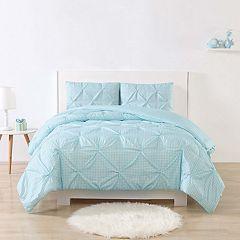 Laura Hart Kid's Gingham Pinch Pleat Comforter Set