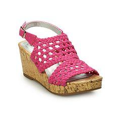 SO® Peaceful Girls' Wedge Sandals