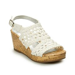 SO® Peaceful Girls' Wedge Sandals