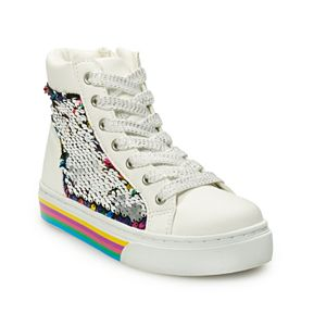 SO® Island Girls' Sequin High Top Shoes