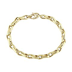 Stella Grace 14k Yellow Gold Link Men's Bracelet