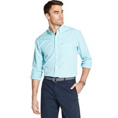 3b4ac2f64 Men's IZOD Breeze Cool FX Classic-Fit Plaid Button-Down Shirt