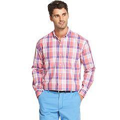 Men's IZOD Breeze Cool FX Classic-Fit Plaid Button-Down Shirt