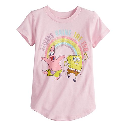 Toddler Girl Jumping Beans Spongebob Patrick Graphic Tee