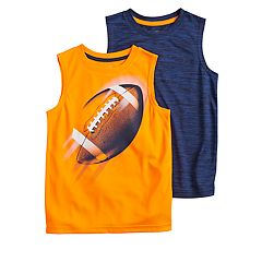 Boys 4-12 Jumping Beans® 2 Pack Sporty Muscle Tee Set