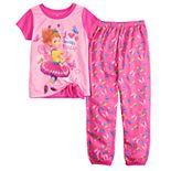 Disney's Fancy Nancy Girls 4-10 Top & Bottoms Pajama Set