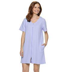 Women's Croft & Barrow® Waffle Texture Zip-Front Robe