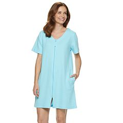 Women s Croft   Barrow® Waffle Texture Zip-Front Robe 65b9e1c38