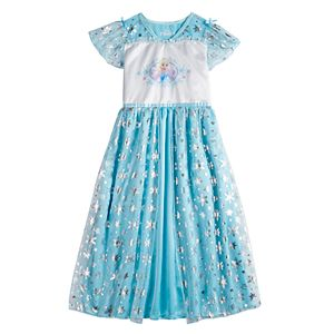 Disney's Frozen Elsa Girls 4-8 Fantasy Gown Nightgown